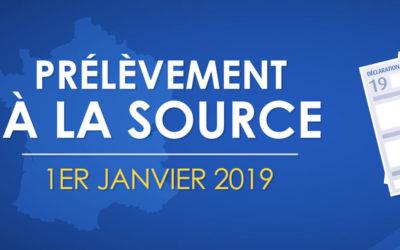 Prélèvement à la source mise en place au 1 janvier 2019